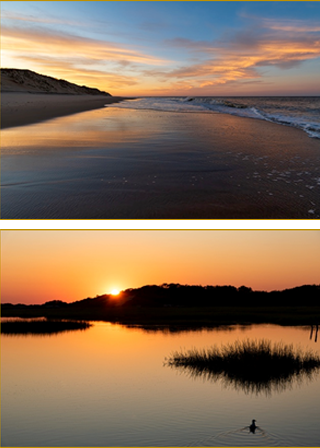 Photography of beaches in MA and RI
