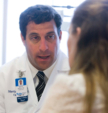 Martin Maron, MD and his patient at Tufts Medical Center in Boston.